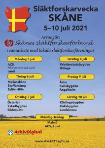 Släktforskarveckan i Skåne