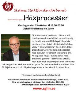 Föredrag om Häxprocesser av Dick Harrison